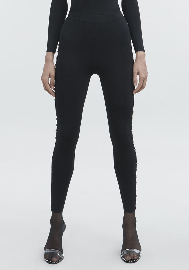 ALEXANDER WANG SNAP LEGGINGS PANTS Adult 12_n_a