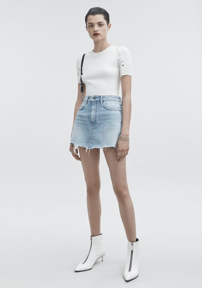 ALEXANDER WANG classic-denim BITE SKIRT
