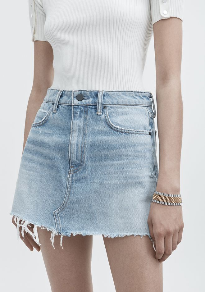 ALEXANDER WANG BITE SKIRT DENIM Adult 12_n_d