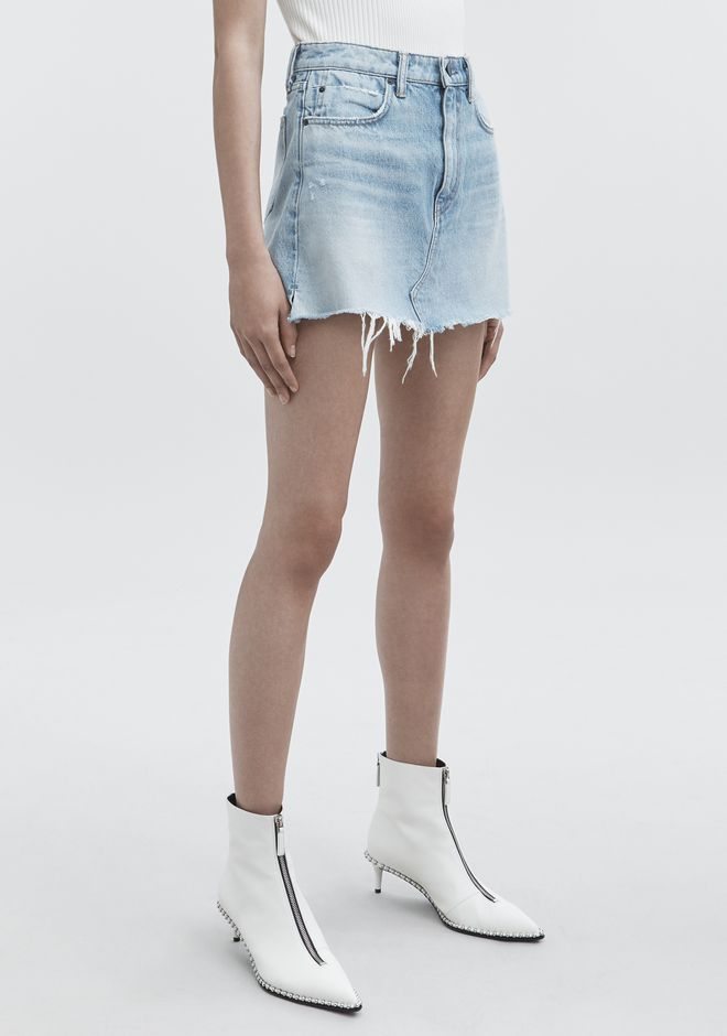 ALEXANDER WANG BITE SKIRT DENIM Adult 12_n_e