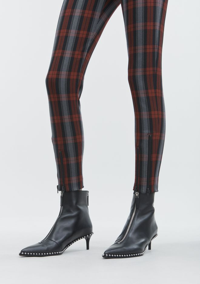 T by ALEXANDER WANG PLAID LEGGINGS PANTALONS Adult 12_n_a