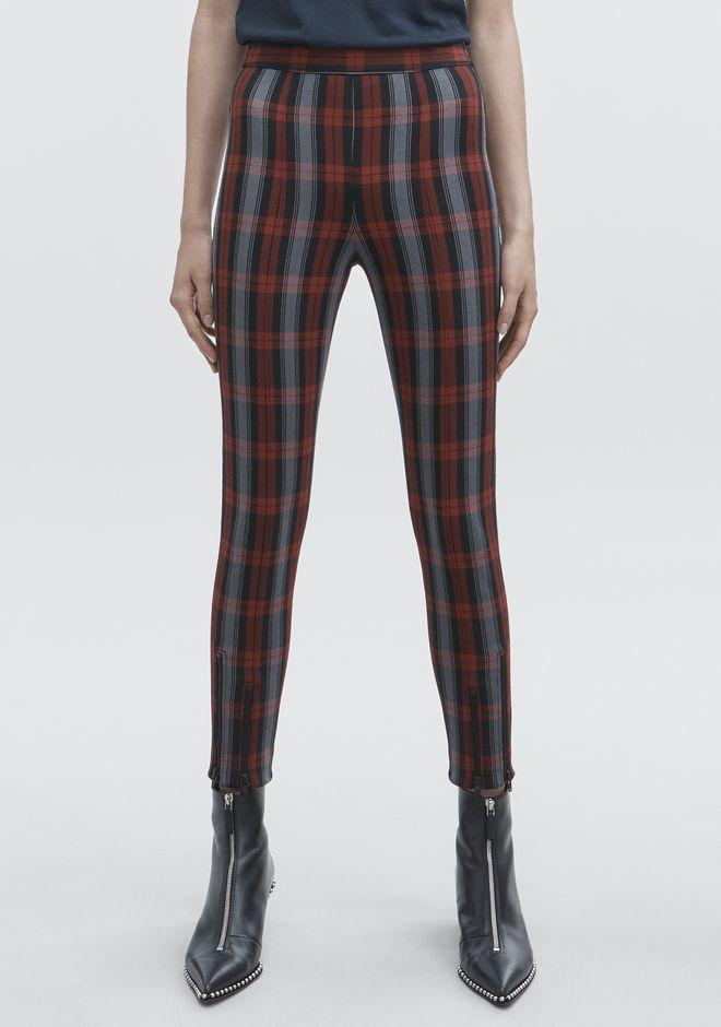 T by ALEXANDER WANG PLAID LEGGINGS PANTALONS Adult 12_n_d
