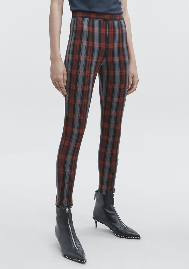T by ALEXANDER WANG PLAID LEGGINGS PANTALONS Adult 12_n_e