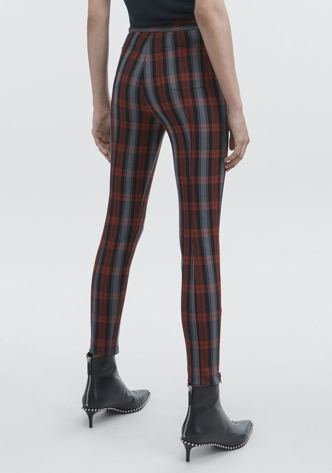 T by ALEXANDER WANG PLAID LEGGINGS PANTS Adult 12_n_r