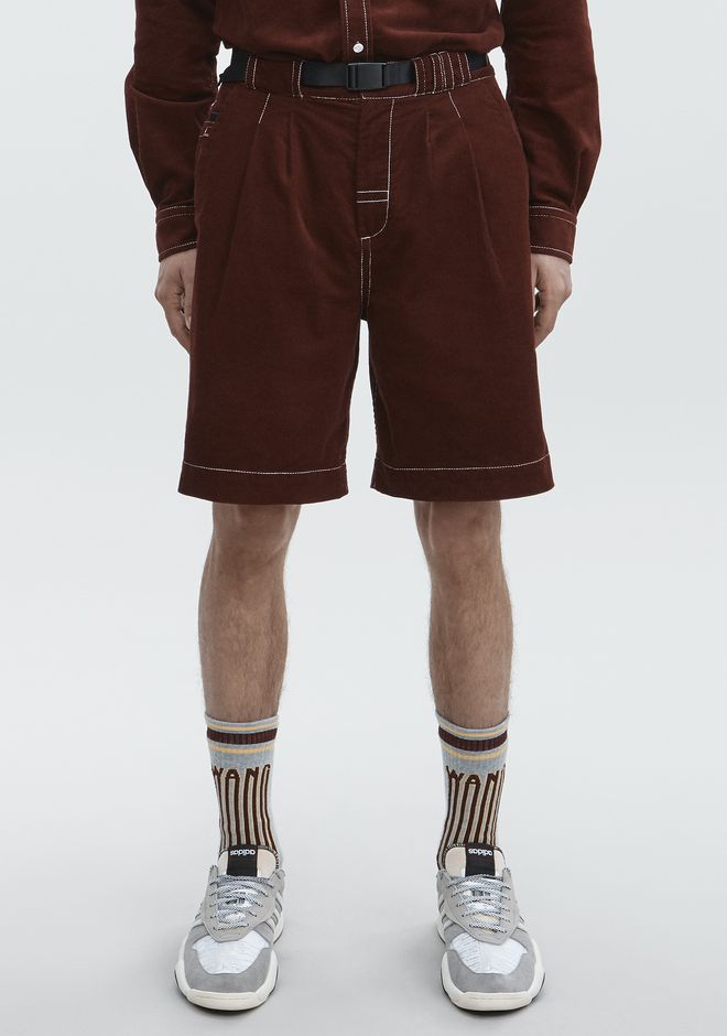 ALEXANDER WANG BELTED CORDUROY SHORTS PANTS Adult 12_n_a