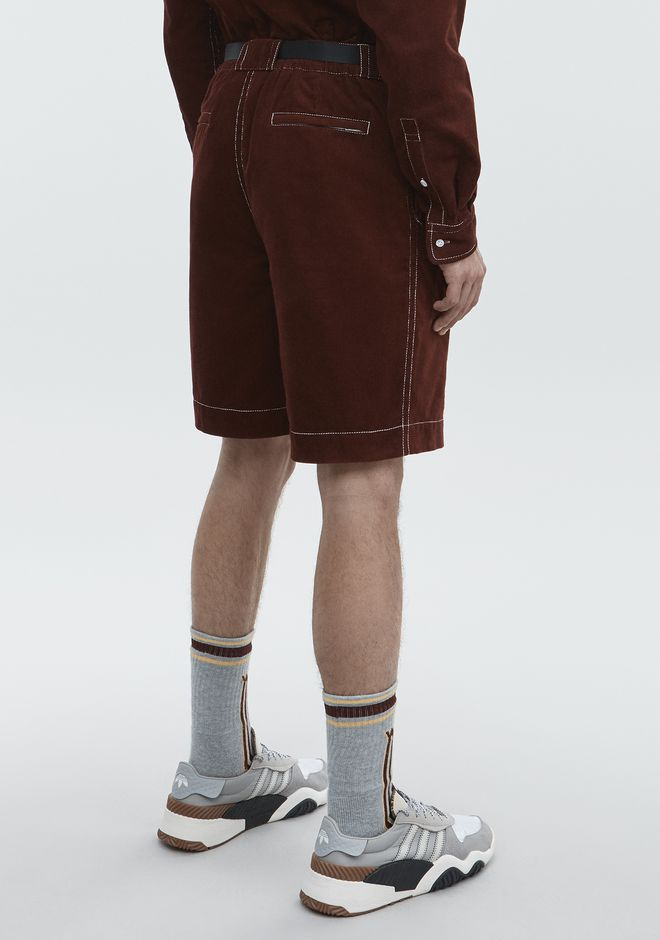 ALEXANDER WANG BELTED CORDUROY SHORTS PANTS Adult 12_n_r