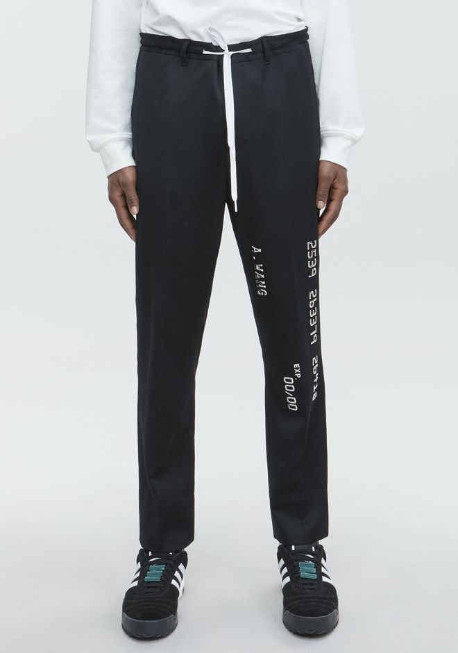 ALEXANDER WANG CREDIT CARD DRAWCORD TROUSER PANTS Adult 12_n_a