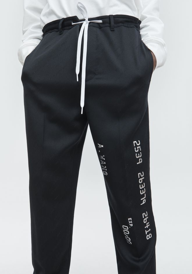 ALEXANDER WANG CREDIT CARD DRAWCORD TROUSER PANTS Adult 12_n_d