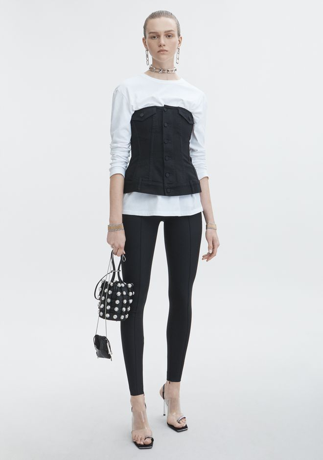 ALEXANDER WANG SCULPTED DENIM TOP  DENIM Adult 12_n_f
