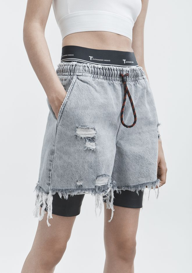 ALEXANDER WANG JOGGER SHORTS DENIM Adult 12_n_d