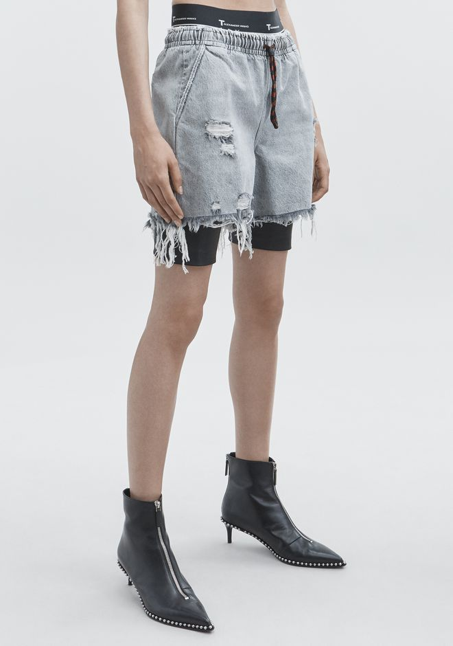 ALEXANDER WANG JOGGER SHORTS DENIM Adult 12_n_e