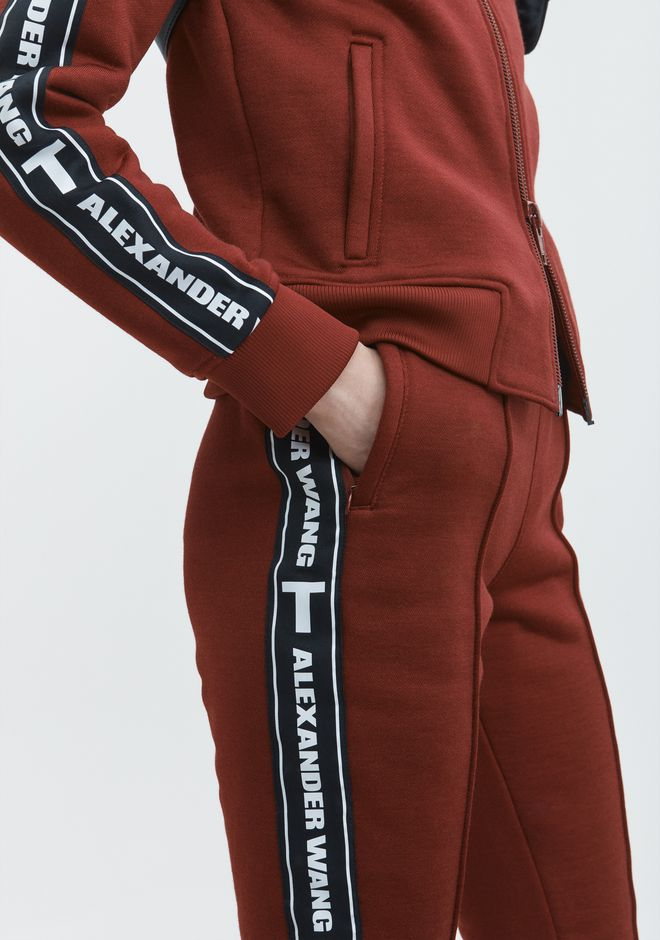 T by ALEXANDER WANG LOGO TAPE TRACK PANT PANTALONS Adult 12_n_d