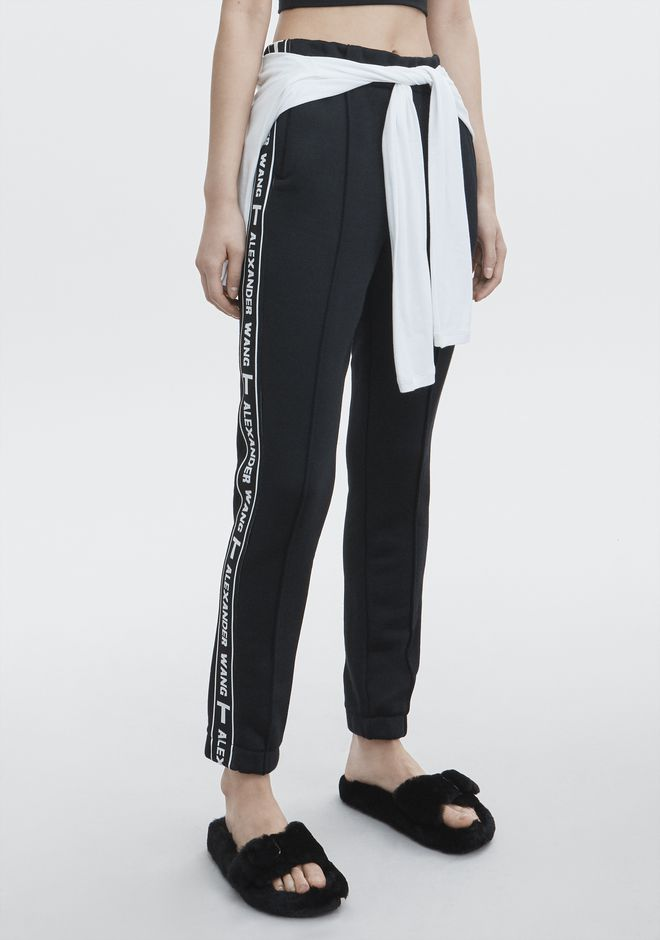 T by ALEXANDER WANG LOGO TAPE TRACK PANT PANTS Adult 12_n_e