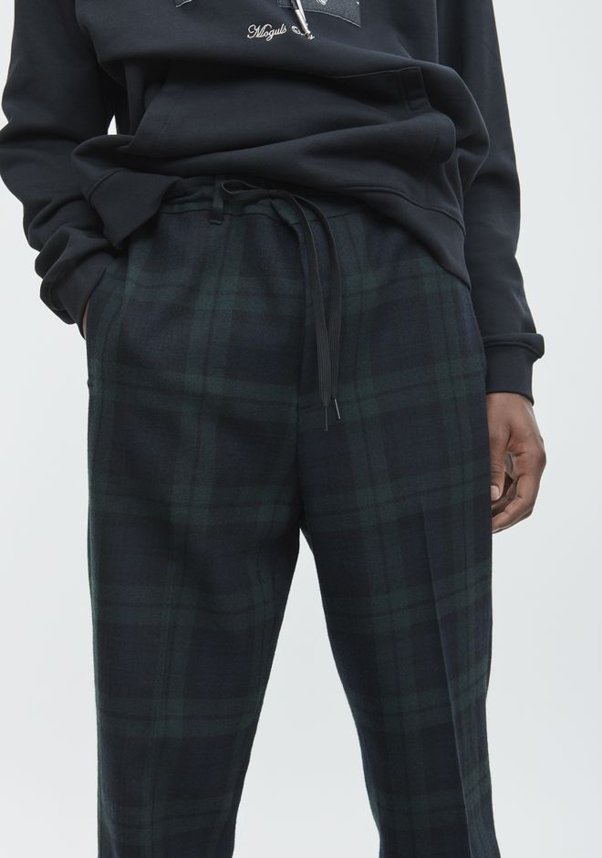 ALEXANDER WANG PLAID TROUSER  PANTS Adult 12_n_d