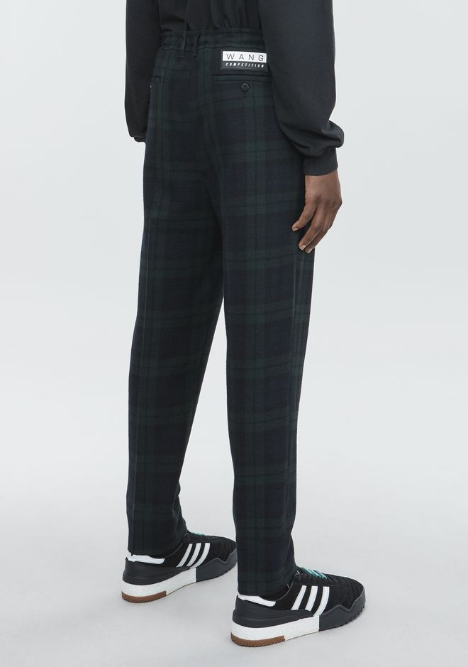 ALEXANDER WANG PLAID TROUSER  PANTS Adult 12_n_r