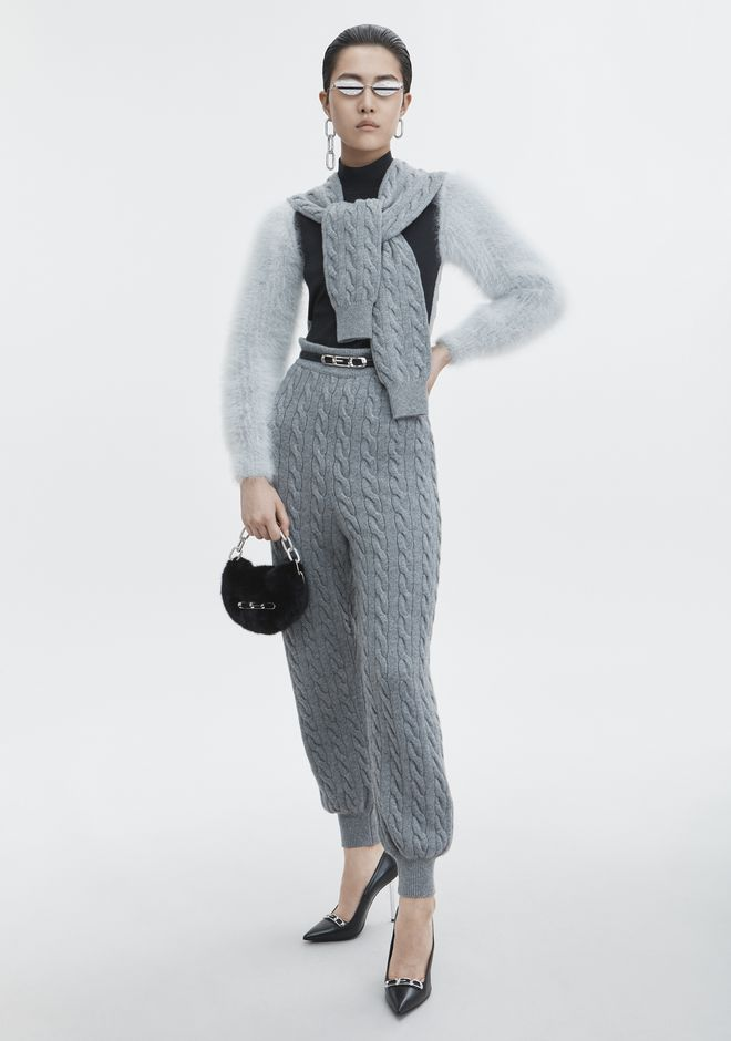 ALEXANDER WANG knitwear-ready-to-wear-woman CABLE SWEATPANT