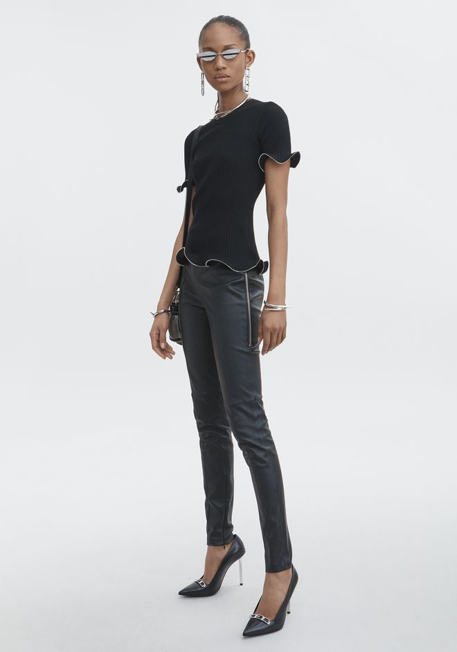 ALEXANDER WANG classic-bottoms STRETCH LEATHER LEGGING