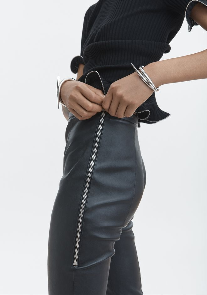 ALEXANDER WANG STRETCH LEATHER LEGGING  PANTS Adult 12_n_d