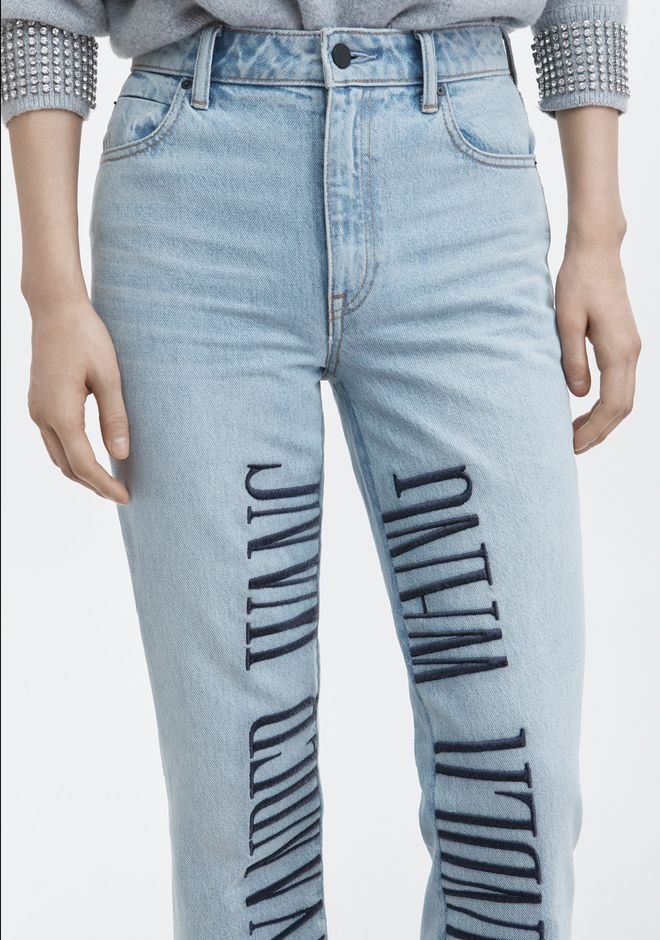 ALEXANDER WANG CULT LOGO EMBROIDERED JEAN JEAN Adult 12_n_d