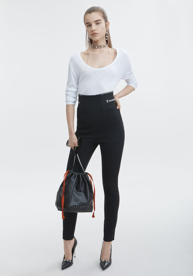 T by ALEXANDER WANG sltbbtm LEGGING WITH LOGO ELASTIC