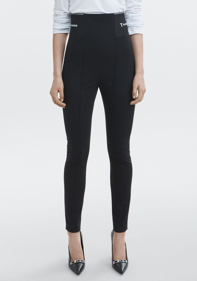 T by ALEXANDER WANG LEGGING WITH LOGO ELASTIC HOSEN Adult 12_n_a