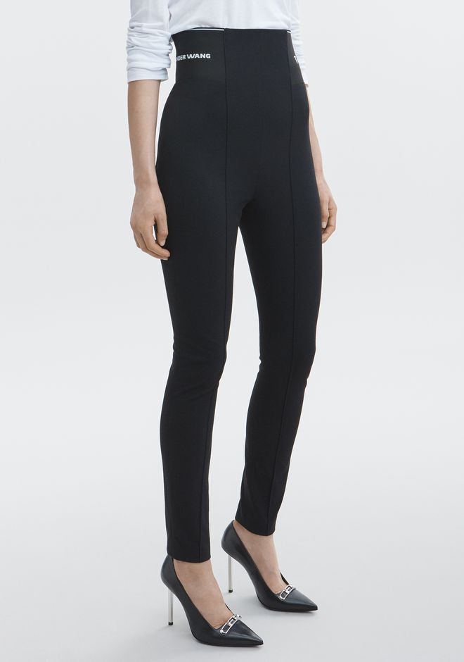 T by ALEXANDER WANG LEGGING WITH LOGO ELASTIC PANTS Adult 12_n_e