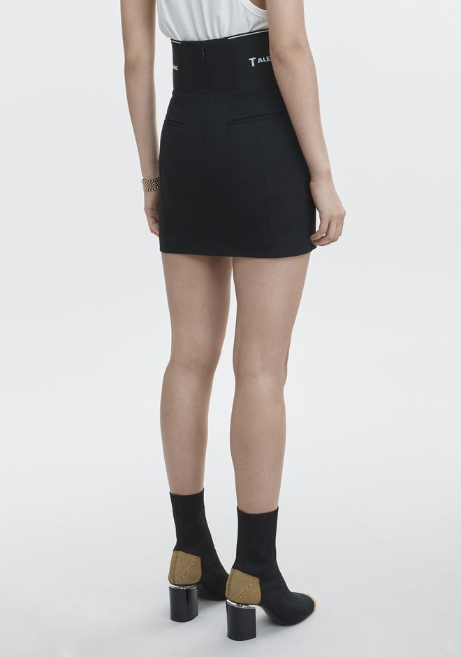 T by ALEXANDER WANG MINI SKIRT WITH LOGO ELASTIC ROCK Adult 12_n_r
