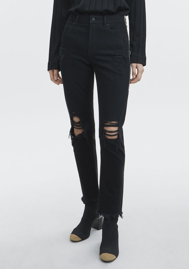 ALEXANDER WANG CULT SIDE ZIP JEAN  DENIM Adult 12_n_a