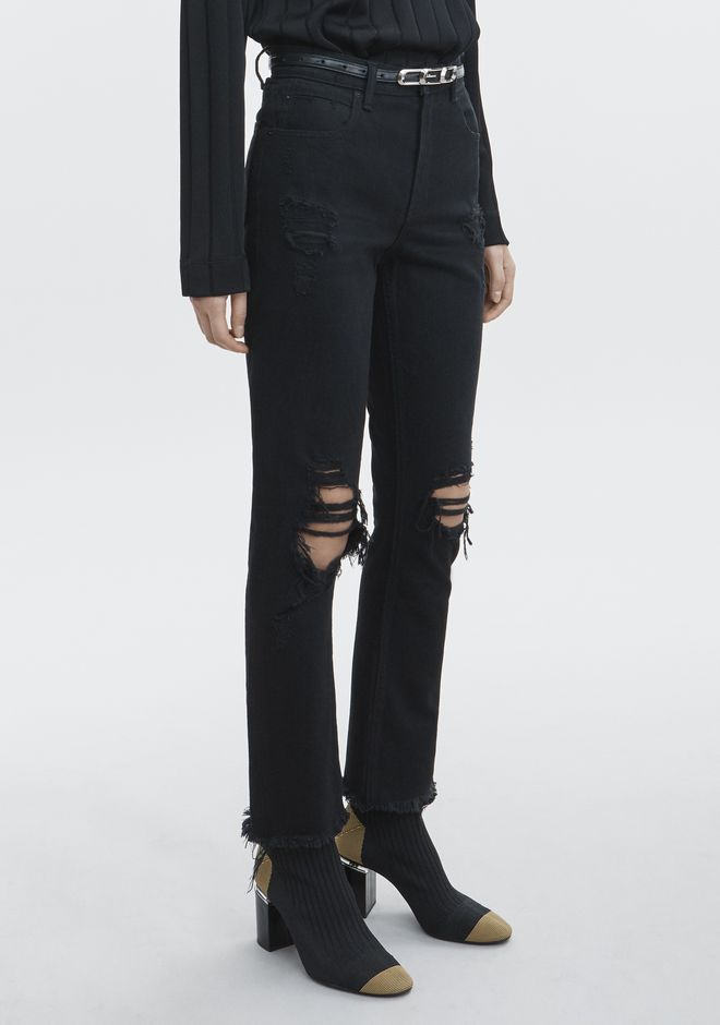 ALEXANDER WANG CULT SIDE ZIP JEAN  DENIM Adult 12_n_e
