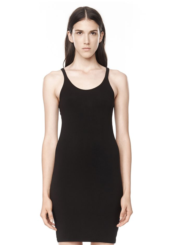 T by ALEXANDER WANG MODAL SPANDEX CAMI TANK DRESS Short Dress Adult 12_n_e