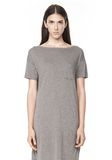 T by ALEXANDER WANG CLASSIC BOATNECK DRESS WITH POCKET Short Dress Adult 8_n_e
