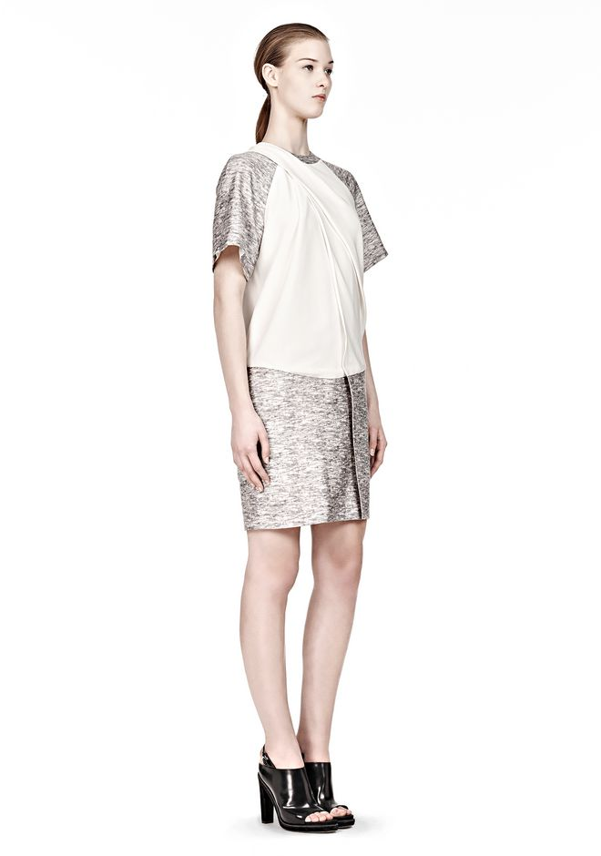 alexander wang draped neck tshirt dress 3