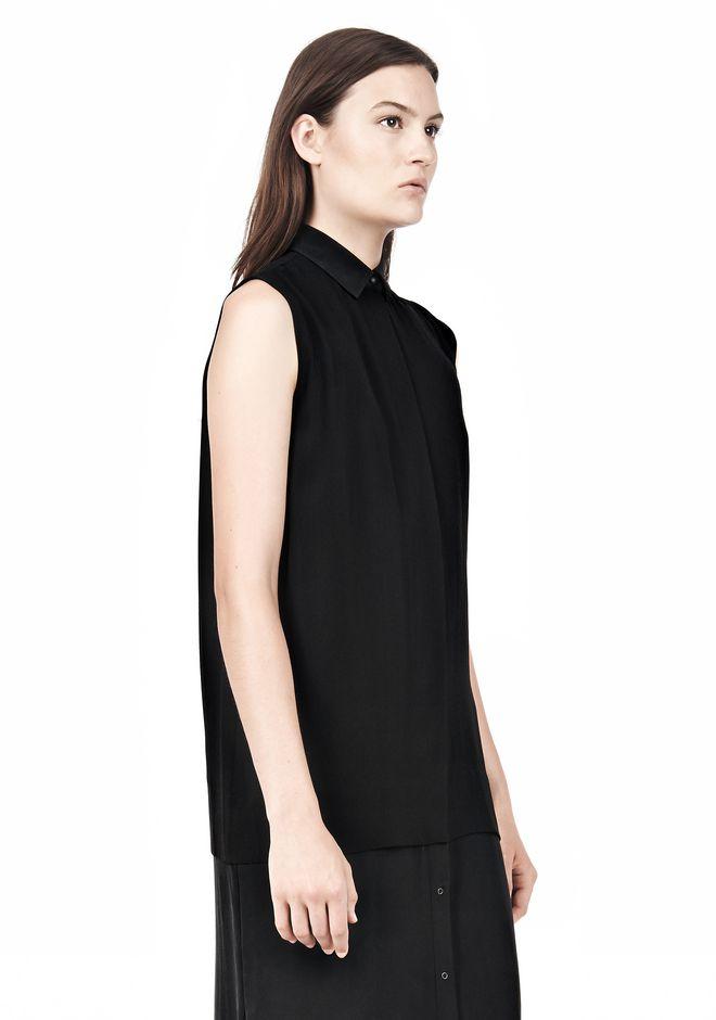 T by ALEXANDER WANG SILK CHFFON OVER CDC SHIRT DRESS 3/4 length dress Adult 12_n_d