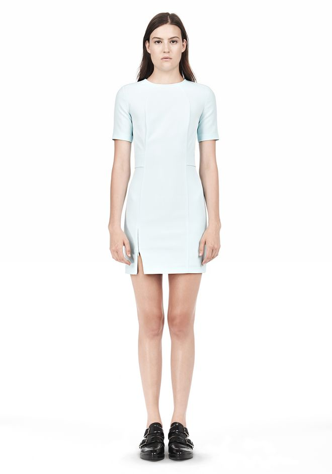 T by ALEXANDER WANG TECH SUITING FITTED DRESS Short Dress Adult 12_n_f