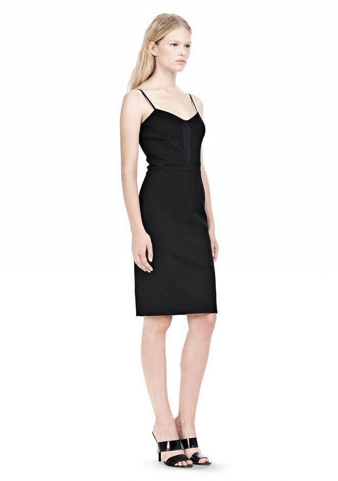 ALEXANDER WANG BUSTIER DRESS WITH CENTER MESH PANEL Short Dress Adult 12_n_e
