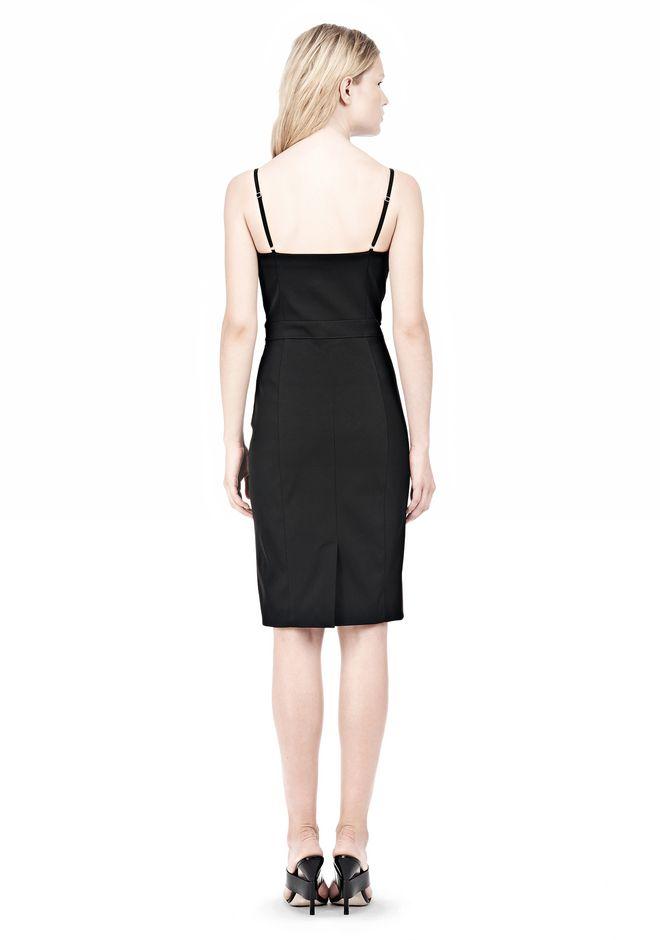 ALEXANDER WANG BUSTIER DRESS WITH CENTER MESH PANEL Short Dress Adult 12_n_r