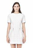 T by ALEXANDER WANG GRID PRINT NEOPRENE SHORT SLEEVE DRESS Short Dress Adult 8_n_d