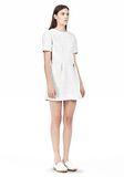 T by ALEXANDER WANG GRID PRINT NEOPRENE SHORT SLEEVE DRESS Short Dress Adult 8_n_e
