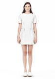 T by ALEXANDER WANG GRID PRINT NEOPRENE SHORT SLEEVE DRESS Short Dress Adult 8_n_f