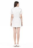 T by ALEXANDER WANG GRID PRINT NEOPRENE SHORT SLEEVE DRESS Short Dress Adult 8_n_r