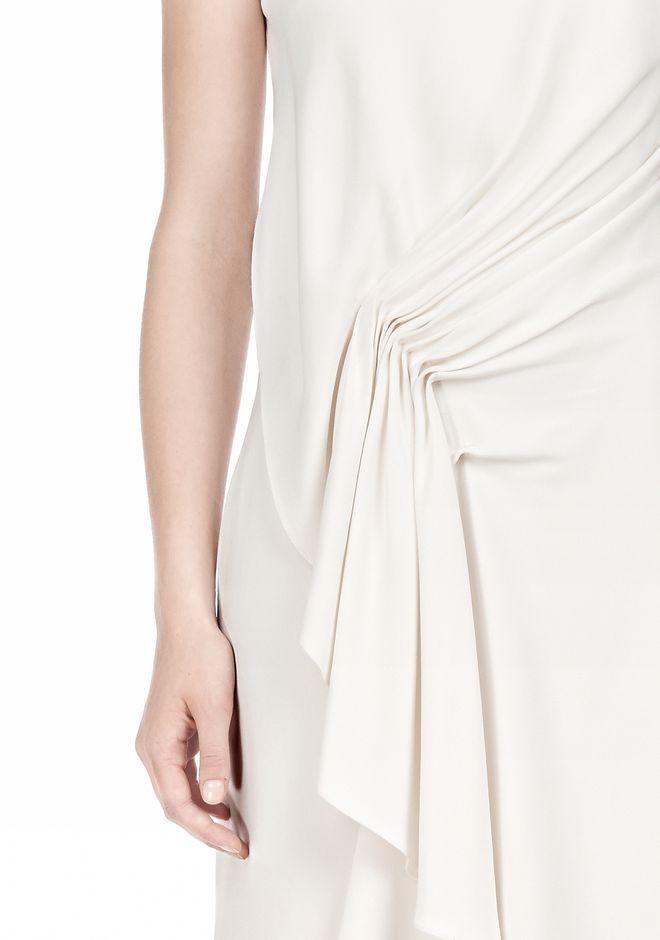 ALEXANDER WANG CASCADE FRONT SLEEVELESS DRESS Short Dress Adult 12_n_d
