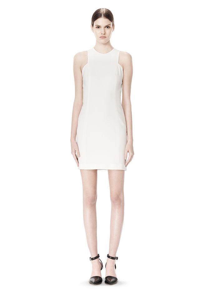 ALEXANDER WANG EXCLUSIVE CROSSOVER BACK SHIFT DRESS Short Dress Adult 12_n_f