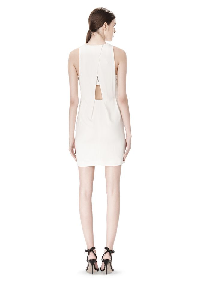 ALEXANDER WANG EXCLUSIVE CROSSOVER BACK SHIFT DRESS Short Dress Adult 12_n_r