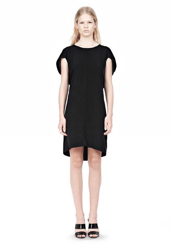 ALEXANDER WANG VACUUM PRESSED IRREGULAR PLEAT BACK DRESS Short dress Adult 12_n_f