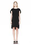 ALEXANDER WANG VACUUM PRESSED IRREGULAR PLEAT BACK DRESS Short dress Adult 8_n_f