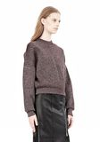 ALEXANDER WANG OVERSIZED LUREX SWEATSHIRT WITH PINTUCK DETAIL Crewneck Adult 8_n_a