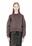 ALEXANDER WANG OVERSIZED LUREX SWEATSHIRT WITH PINTUCK DETAIL Crewneck Adult 8_n_e