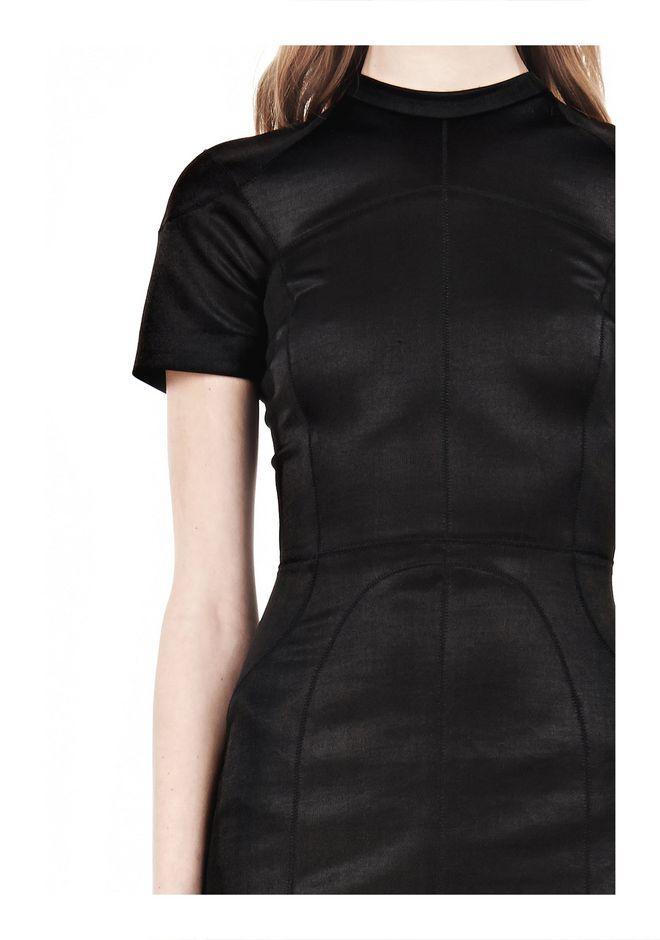 T by ALEXANDER WANG SHINY DOUBLE KNIT MOCK NECK SCUBA DRESS Short Dress Adult 12_n_a