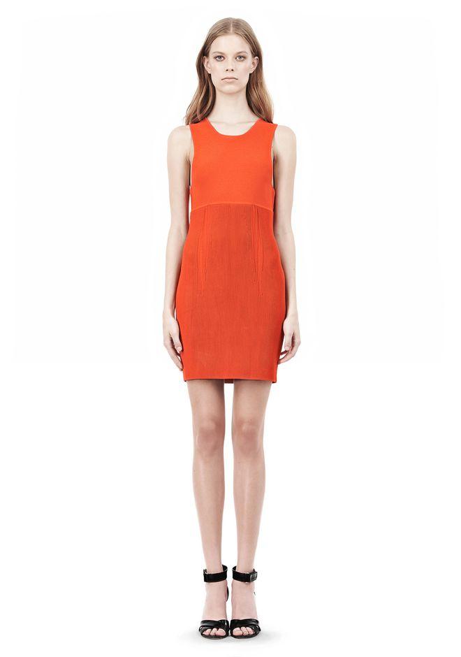 ALEXANDER WANG TUBULAR STRIPE TANK DRESS Short Dress Adult 12_n_f