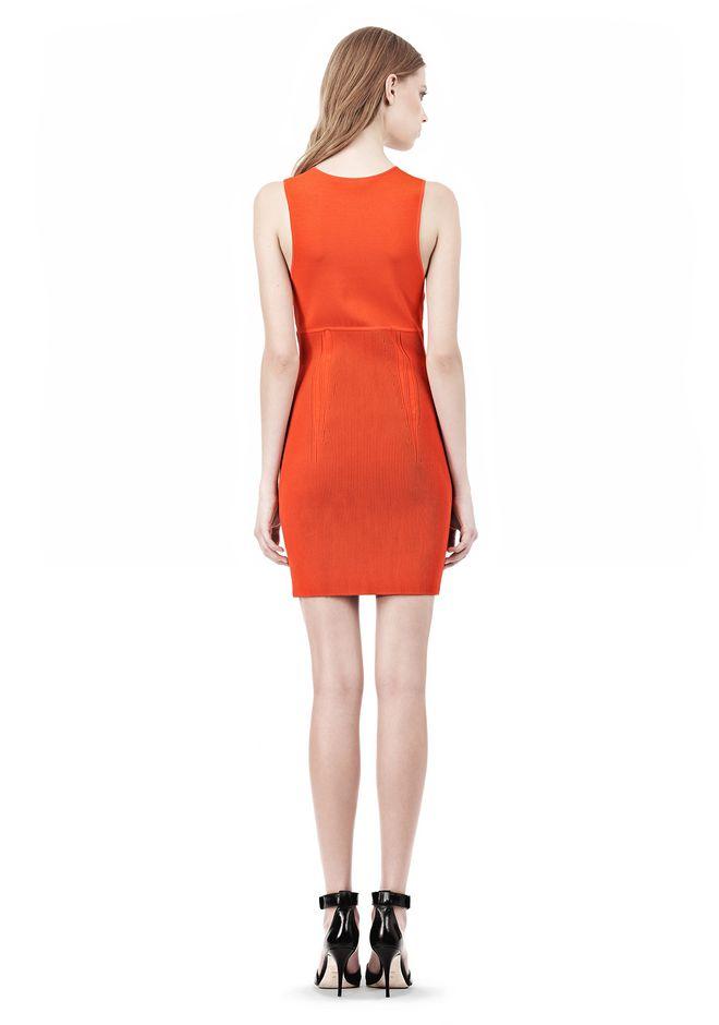 ALEXANDER WANG TUBULAR STRIPE TANK DRESS Short Dress Adult 12_n_r